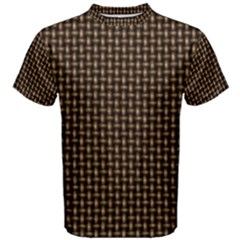 Fabric Pattern Texture Background Men s Cotton Tee