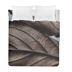 Leaf Veins Nerves Macro Closeup Duvet Cover Double Side (full/ Double Size) by Amaryn4rt