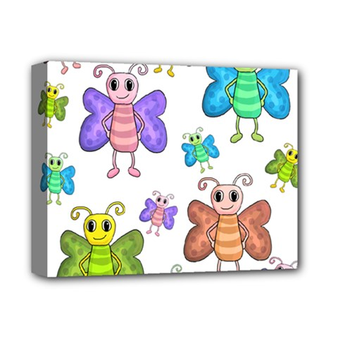 Colorful, Cartoon Style Butterflies Deluxe Canvas 14  X 11  by Valentinaart