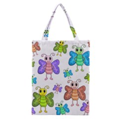 Colorful, Cartoon Style Butterflies Classic Tote Bag by Valentinaart