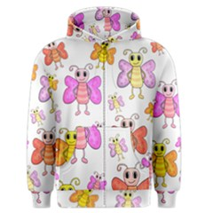 Cute Butterflies Pattern Men s Zipper Hoodie