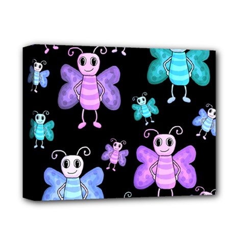 Blue And Purple Butterflies Deluxe Canvas 14  X 11  by Valentinaart