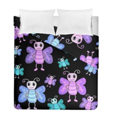 Blue And Purple Butterflies Duvet Cover Double Side (full/ Double Size) by Valentinaart