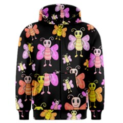 Cute Butterflies, Colorful Design Men s Zipper Hoodie