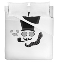 Invisible Man Duvet Cover Double Side (queen Size) by Valentinaart
