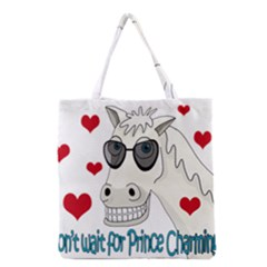 Don t Wait For Prince Sharming Grocery Tote Bag by Valentinaart