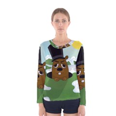 Groundhog Women s Long Sleeve Tee by Valentinaart