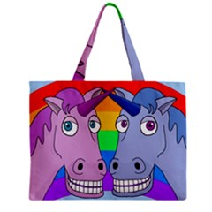 Unicorn Love Zipper Mini Tote Bag by Valentinaart