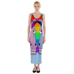 Unicorn Love Fitted Maxi Dress