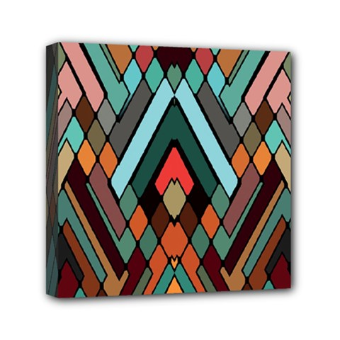 Abstract Mosaic Color Box Mini Canvas 6  X 6  by Jojostore