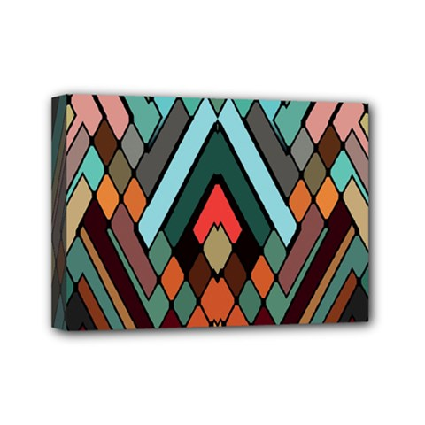 Abstract Mosaic Color Box Mini Canvas 7  X 5  by Jojostore