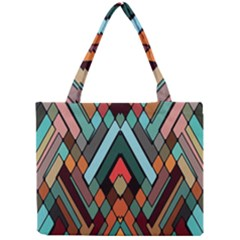 Abstract Mosaic Color Box Mini Tote Bag
