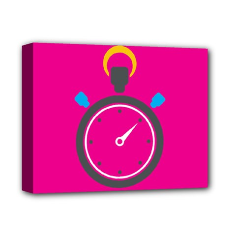 Alarm Clock Houre Deluxe Canvas 14  X 11  by Jojostore