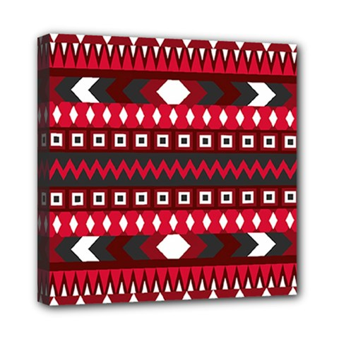 Asterey Red Pattern Mini Canvas 8  X 8  by Jojostore
