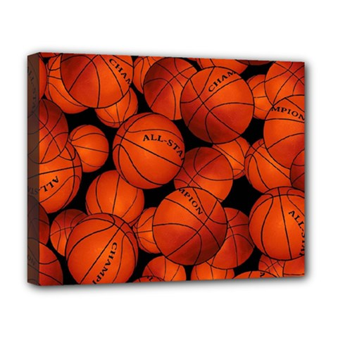 Basketball Sport Ball Champion All Star Deluxe Canvas 20  X 16   by Jojostore