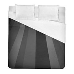 Black Minimalistic Gray Stripes Duvet Cover (full/ Double Size) by Jojostore