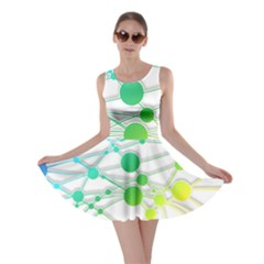 Network Connection Structure Knot Skater Dress
