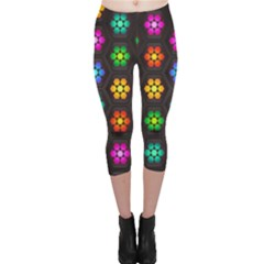 Pattern Background Colorful Design Capri Leggings