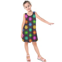 Pattern Background Colorful Design Kids  Sleeveless Dress by Amaryn4rt