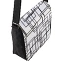 Structure Pattern Network Flap Messenger Bag (L)  View2