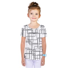 Structure Pattern Network Kids  One Piece Tee