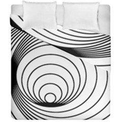 Spiral Eddy Route Symbol Bent Duvet Cover Double Side (california King Size)