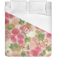 Aquarelle Pink Flower  Duvet Cover (california King Size) by Brittlevirginclothing
