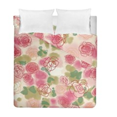 Aquarelle Pink Flower  Duvet Cover Double Side (full/ Double Size) by Brittlevirginclothing