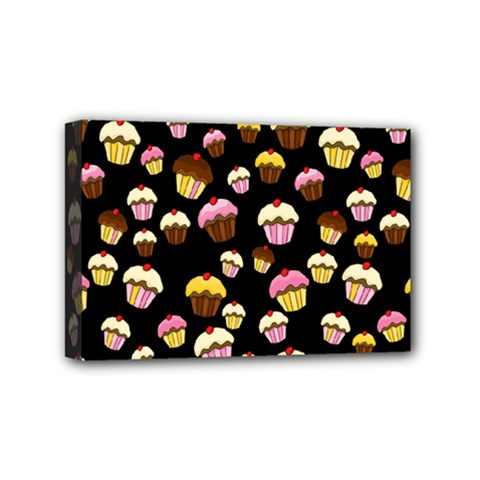 Jammy Cupcakes Pattern Mini Canvas 6  X 4  by Valentinaart