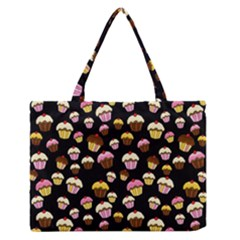 Jammy Cupcakes Pattern Medium Zipper Tote Bag by Valentinaart