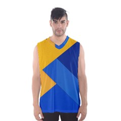 Box Yellow Blue Red Men s Basketball Tank Top by Jojostore