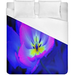 Blue And Purple Flowers Duvet Cover (california King Size)