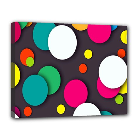 Color Balls Canvas 14  X 11  by Jojostore