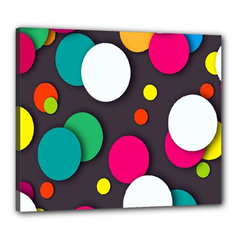 Color Balls Canvas 24  X 20