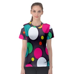 Color Balls Women s Sport Mesh Tee