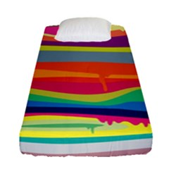 Colorfull Rainbow Fitted Sheet (single Size)