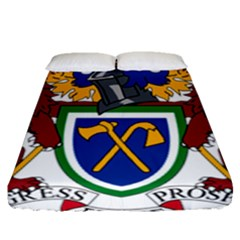 Coat Of Arms Of The Gambia Fitted Sheet (queen Size)