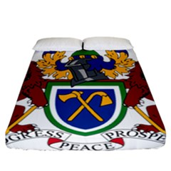 Coat Of Arms Of The Gambia Fitted Sheet (california King Size) by abbeyz71