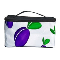 Decorative Plums Pattern Cosmetic Storage Case by Valentinaart