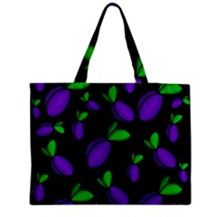 Plums Pattern Medium Tote Bag by Valentinaart