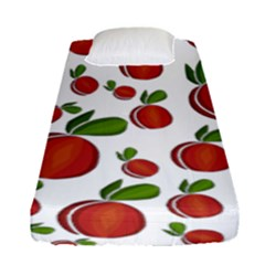 Peaches Pattern Fitted Sheet (single Size) by Valentinaart