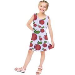Peaches Pattern Kids  Tunic Dress by Valentinaart