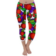 Peaches And Plums Capri Winter Leggings