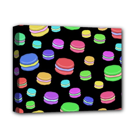 Colorful Macaroons Deluxe Canvas 14  X 11  by Valentinaart