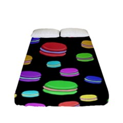 Colorful Macaroons Fitted Sheet (full/ Double Size) by Valentinaart