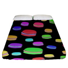 Colorful Macaroons Fitted Sheet (king Size) by Valentinaart