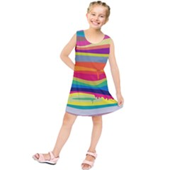 Colorfull Rainbow Kids  Tunic Dress