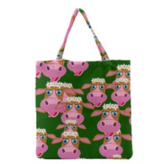 Cow Pattern Grocery Tote Bag