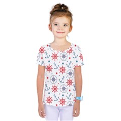 Compass Anchor Kids  One Piece Tee