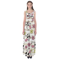 Cow Animals Empire Waist Maxi Dress